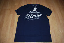 Scotch & Soda Herren T-Shirt Ams Blauw Tee Frontdruck/ Gr. M / Neu m. Etikett