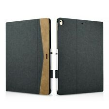Folio Case Ipad Pro 12,9 Inch 2017 In Fabric And Leather Series Scholarship Blk