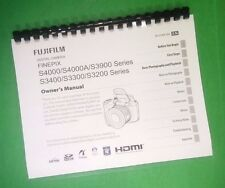 LASER PRINTED Fujifilm FinePix S3900 S4000 S4000A Instruction Manual 147 Pages