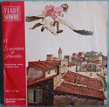 """LE AVVENTURE DI PINOCCHIO N.11 - FIABE SONORE - VINILE 7"""""""