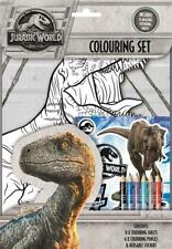 Jurassic World 2 Fallen Kingdom  Colouring Set With Stickers - Brand New