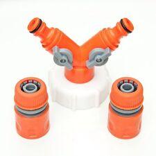 Ibc réservoir robinet t pièce double outlet avec raccord plate-forme réservoir d'eau hoze