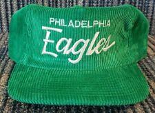 "NOS Vintage PHILA. EAGLES Script Corduroy SPORTS SPECIALTIES Cap Hat ""The Cord"""