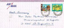 Papua Newguinea, Brief von WABAG (WB-1) nach GERMANY, 1597