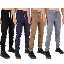 New Mens Chinos Joggers Slim Fit Stretch Cuffed Jogger Jeans Waist 28 - 40