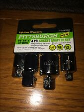 "*NEW* PITTSBURGH 4-PIECE SOCKET ADAPTER SET 1/4"" 3/8"" & 1/2"" DR PART #62851 RT46"
