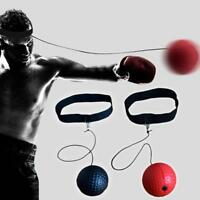 Fight Ball Reflex Boxing Trainer Training Boxer Speed Punch Head Cap String V1P8