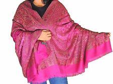 "Byzantine Wool Embroidered Designer Shawl Kashmir Dress Wrap Winter Scarf 80"""