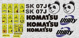KIT ADESIVI komatsu Utility 07J stickers