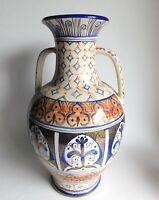 Vintage Large Mineral Art Pottery Vase Jug Cuenca Ecuador Signed by Artist