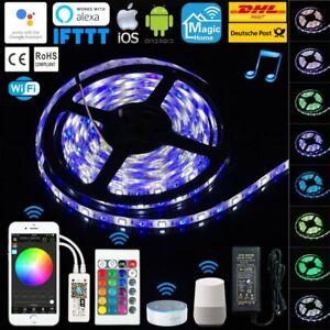 1M-10M RGBW LED Wasserdicht Lichtleiste Mini WLan +24T. IR Controller Alexa Echo