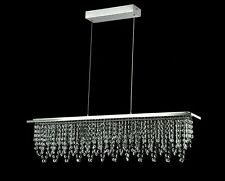 Chandelier Ceiling Light Crystal Drop Maytoni Glacier 85x11x174cm Chrome NEW (X)