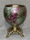 Antique GWTW Banquet Parlor Kerosene Oil Lamp Hand Painted Base   BASE ONLY