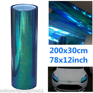 "12""x78"" Chameleon Colorful Blue Autos Headlight Tail Light Vinyl Tint Cover Film"