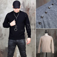 NewStylish Mens Fashion Side opening studded cashmere shirts