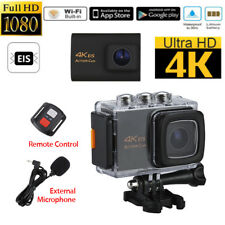 4K WiFi EIS HD 1080P 170° Sport Action Cam Sony IMX175 Lens +Mic+Remote Control