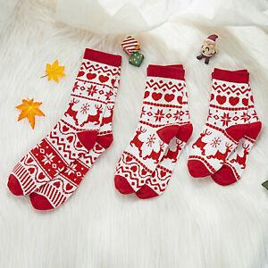 1Pair Child Kids Adults Merry Christmas Vintage Cashmere Socks Comfortable Socks