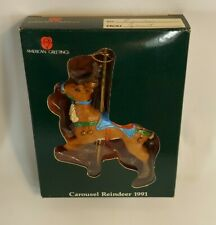 Vintage Carousel Reindeer American Greetings 1991 Christmas Ornament