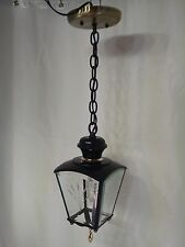 Vintage Black Hanging Coach Lantern Outdoor Light with Chain