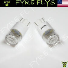 2 Pcs Xenon White Philips Style LED Bulbs T10 168 194 2825 W5W #Z9