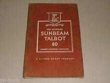 Instrucciones Servicio Manual Owner's Manual Rayo de Sol Talbot 80 (Modelo 1948)