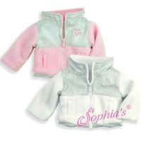 "Doll Clothes 18"" Jacket Pink Fleece Sophia's Fits American Girl Dolls"