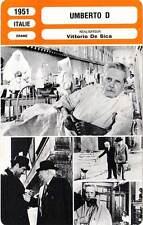 FICHE CINEMA : UMBERTO D - Battisti,Pia Casilio,De Sica 1951