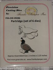 "FRANTIC STAMPER - ""PARTRIDGE"" FRA9286 (SET OF 6 DIES) FOR CARDS & SCRAPBOOKING"