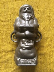 Vintage Griswold Santa Claus Cast Iron Chocolate Mold