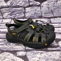 KEEN Boys Kids Black Yellow Hiking Sport Water Sandals Youth Size 6