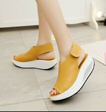 Womens Peep Toe Wedge Platform Heels Comfort Shoes Casual Summer Sandals US5-11