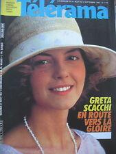 1754 GRETA SCACCHI BD PETILLON (X) MICKEY ROONEY ANDRE DHOTEL  TELERAMA 1983