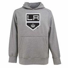 NWT Antigua Men's Los Angeles Kings Hooded Applique Gray Pullover Sweatshirt L