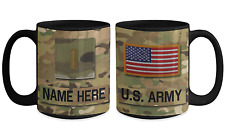 US Army Personalized Officer Mug, 2LT (O1) Army Gift for Dad/Mom/Son/Daughter