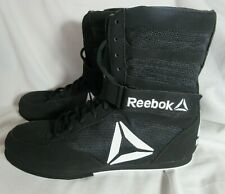 REEBOK Men's 9 M Boxing Boot Black White High Lace-Up Athletic
