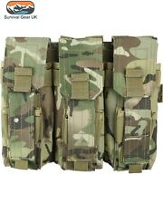 BTP/MTP Camo Triple Mag Pouch With Pistol Mag Pouch Airsoft Forces Army SA80