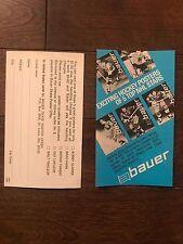 Bauer 1970's Poster Promo Sheet Bobby Clarke Guy Lafleur Bernie Parent Brad Park
