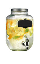 4L Glass Dispenser Jar Drink Cocktail Beverage Water with Tap Punch Juice Home