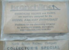 """BRANCHLINE FIGURES - NORTH BRITISH RAILWAY CO 2 PACKS   ho scale ? 7/8"""" tall"""