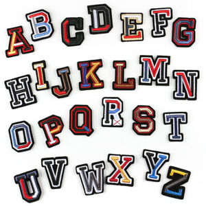 26 Letters 3D Alphabet Embroidered Sew On Patch Badge Fabric Applique Craft Cap