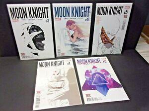 Moon Knight Vol 8: #1 2 3 4 5  High Grade Run Lot Lemire Smallwood NM+