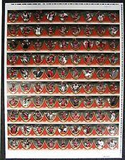 Michael Jordan Legacy Collections RARE Uncut Sheet 90-cd 2-Sided + Bonus Poster