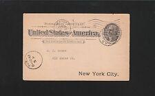 New York Telephone Co 1897 PrePrint Call Tally Jefferson Postal Card 4r