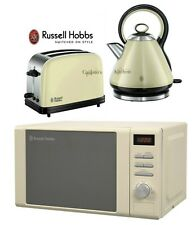 Russell Hobbs Microwave Kettle and Toaster Set Pyramid Kettle and Cream Toaster