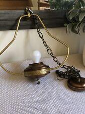 "Vintage Retro 17"" Hanging Lamp Copper Brass Mid-century Ceiling Light Fixture"