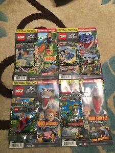 Lego Jurassic World Magazine Issues 12,13,14,15 Lego Minifigures X5 Owen,Wu,vic.