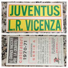 SCRITTA JUVENTUS VICENZA album CALCIATORI PANINI 1970-71 OTTIMA CON VELINA