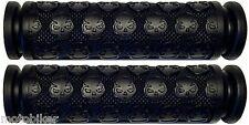 "BMX BLACK SKULL 7/8"" GRIPS FIT EASTERN HARO HOFFMAN JAMIS KINK REDLINE SUBROSA"