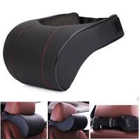 PU Leather Memory Foam Pillows car Seat Head Neck Headrest sleep Rest Cushion