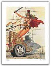Affiche Milo MANARA Pin Up Rome 200 ex signé 28,5x38 cm
